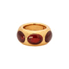 Antique & Vintage Jewelry Pamellato Garnet Chunky Band Ring - Rings - Broken English Jewelry