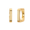 Antique & Vintage Jewelry Bone Square Hoops - Earrings - Broken English Jewelry