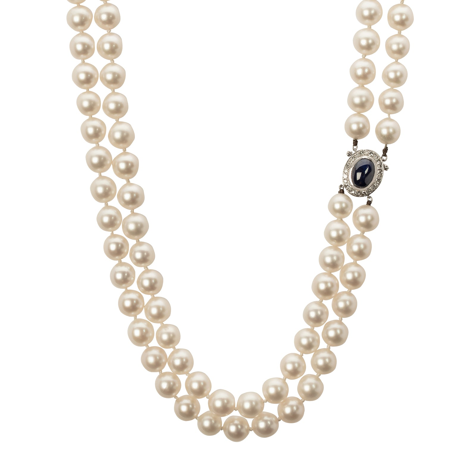 Antique & Vintage Jewelry Van Cleef & Arpels Double Strand Pearl Necklace - Necklaces - Broken English Jewelry