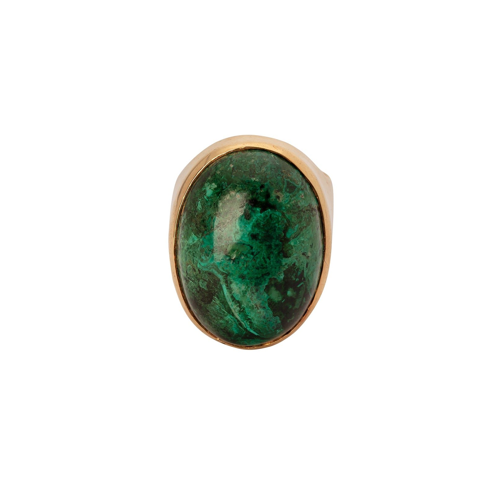 Antique & Vintage Jewelry Oval Malachite Ring - Rings - Broken English Jewelry