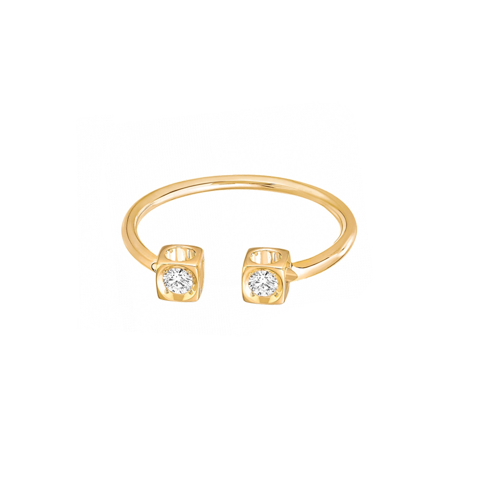 Dinh Van Le Cube Diamant Ring - Gold - Rings - Broken English Jewelry