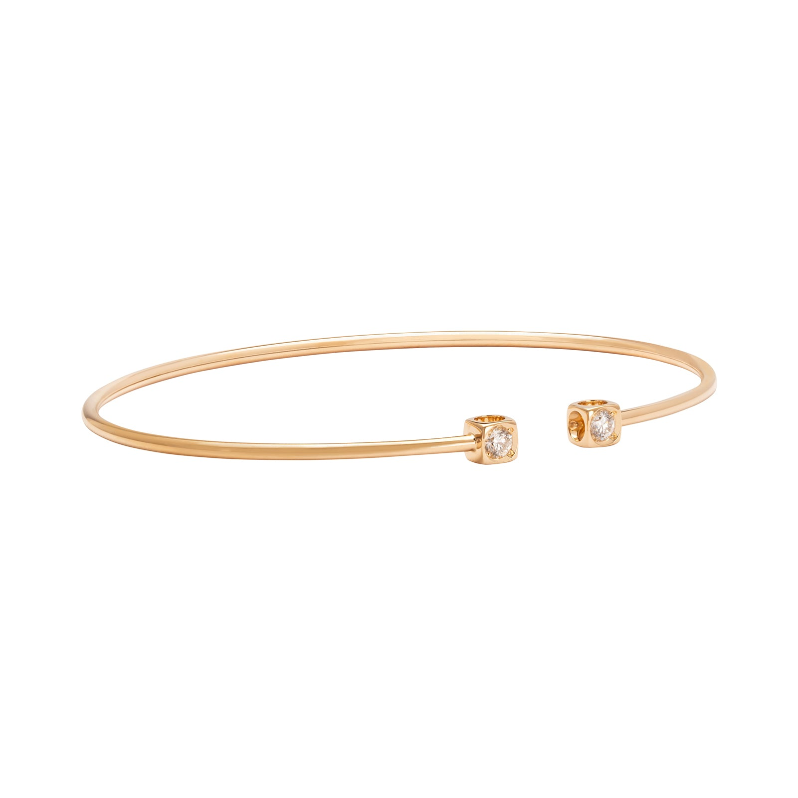 Dinh Van Le Cube Diamant Small Bracelet - Yellow Gold - Bracelets - Broken English Jewelry