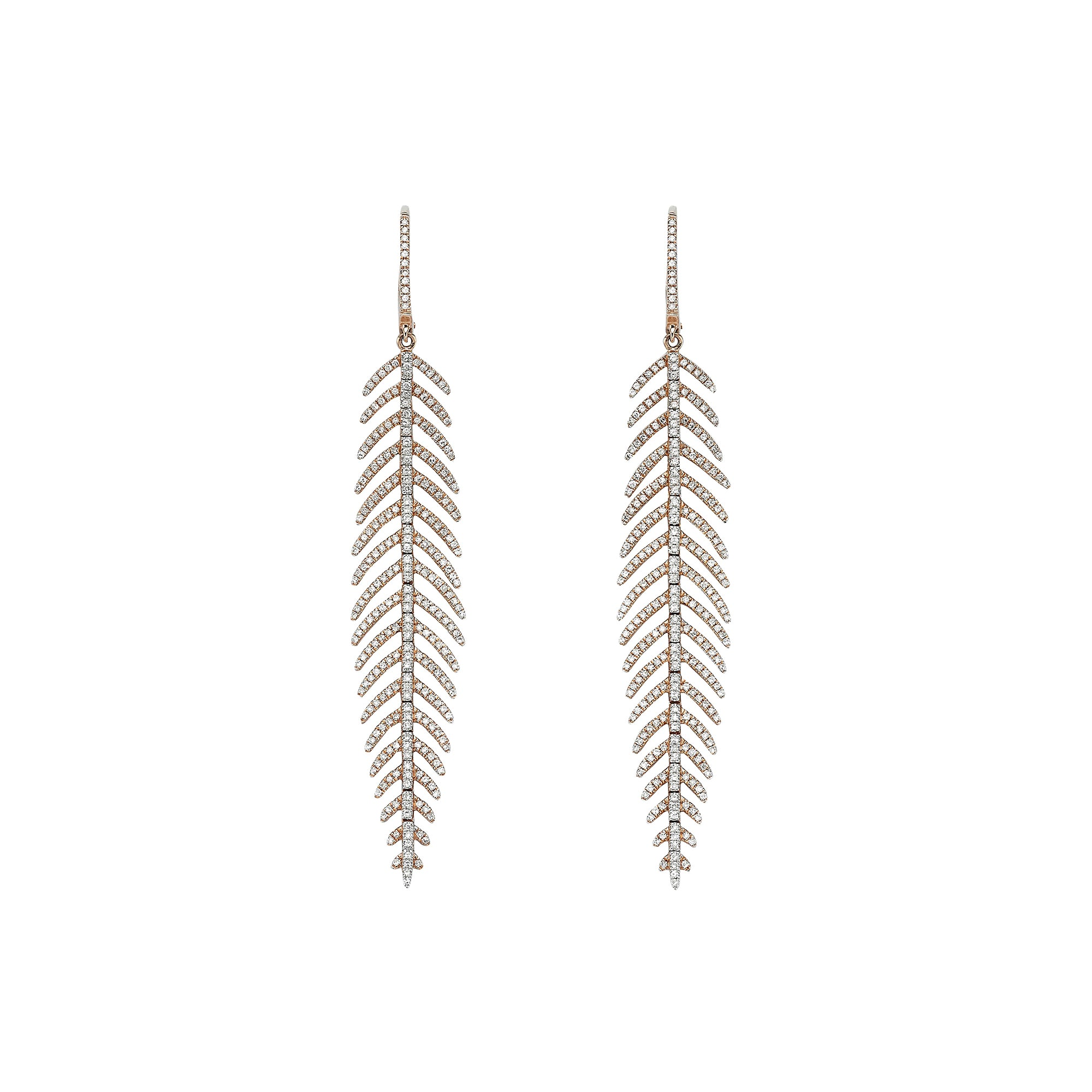 Fine Feather Medium Earrings - Ilene Joy - Earrings | Broken English Jewelry