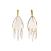 Lisa Eisner Jewelry Crystal Quartz Four Direction Earrings - Earrings - Broken English Jewelry