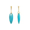 Lisa Eisner Jewelry Turquoise Slender Spear Earrings - Earrings - Broken English Jewelry