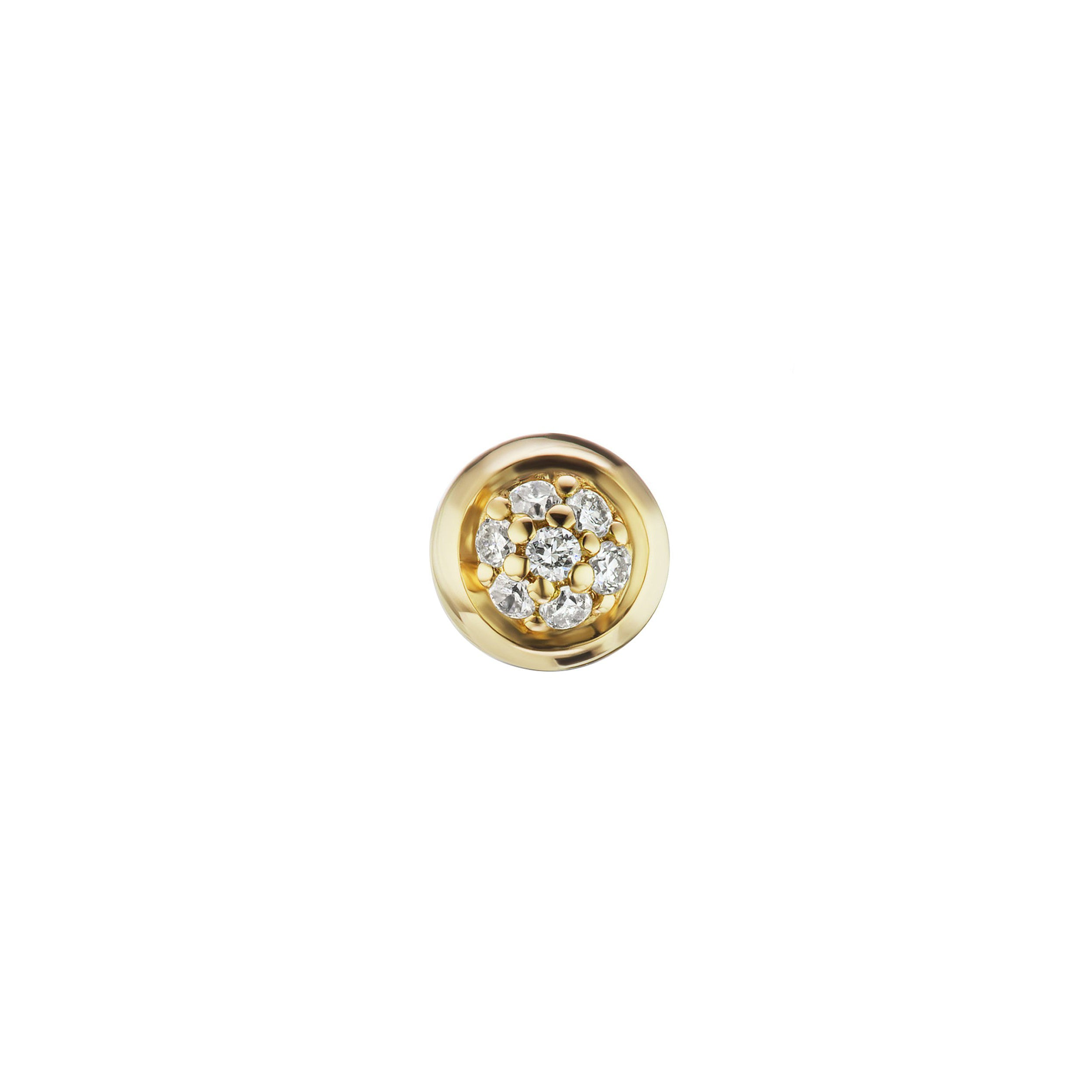 Altruist Pave Screw Stud 4mm - Gold - Earrings - Broken English Jewelry