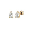Altruist Pirum Screw Stud - Diamond & Gold - Earrings - Broken English Jewelry