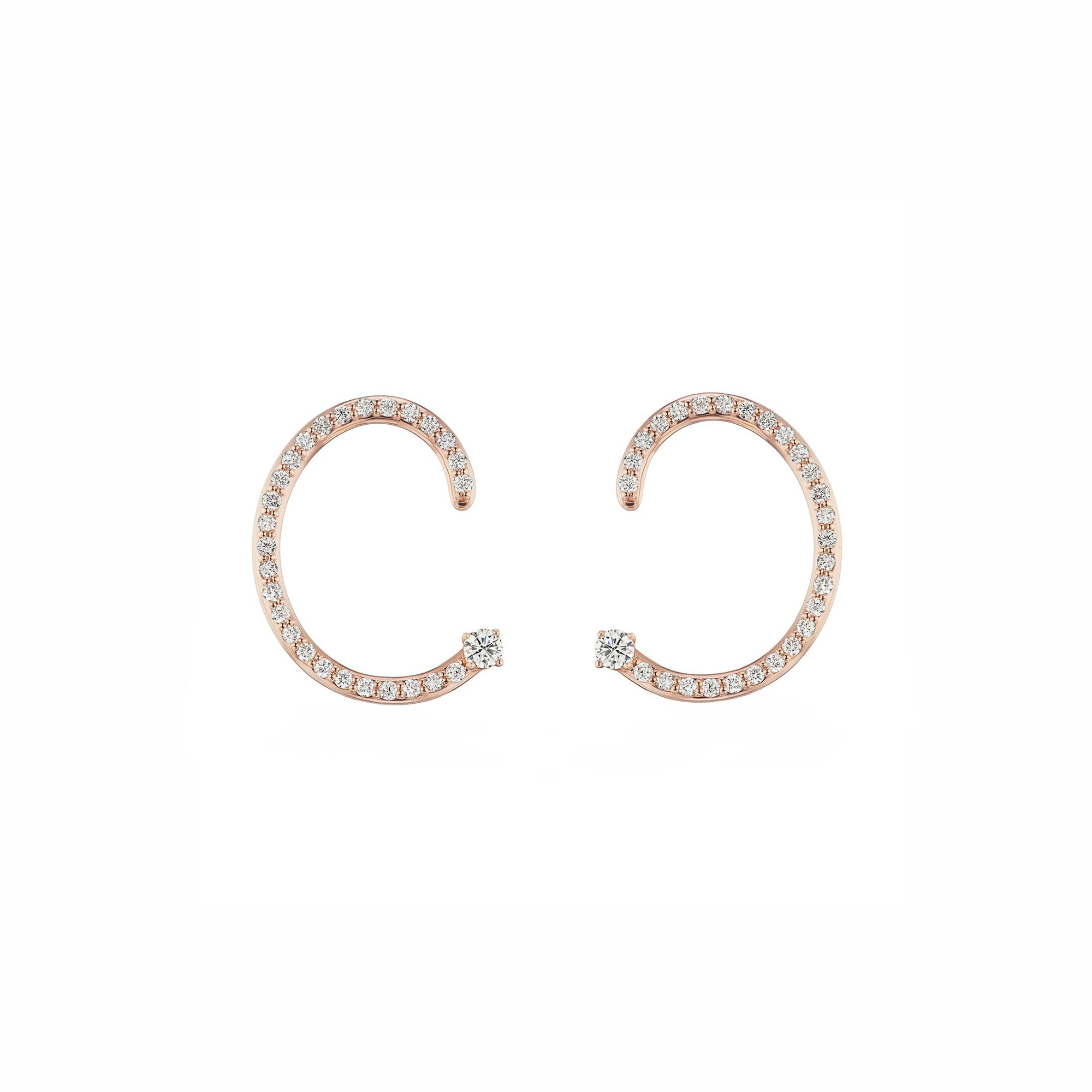 Pave Helical Hoops - Altruist - Earrings | Broken English Jewelry