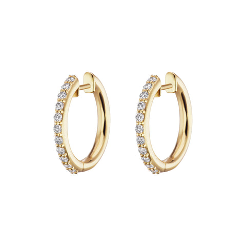 Pave Traditional Espionne Hoops 13mm - Altruist - Earrings | Broken English Jewelry