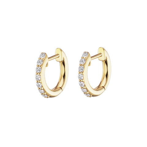 Pave Traditional Espionne Hoops 8mm - Altruist - Earrings | Broken English Jewelry