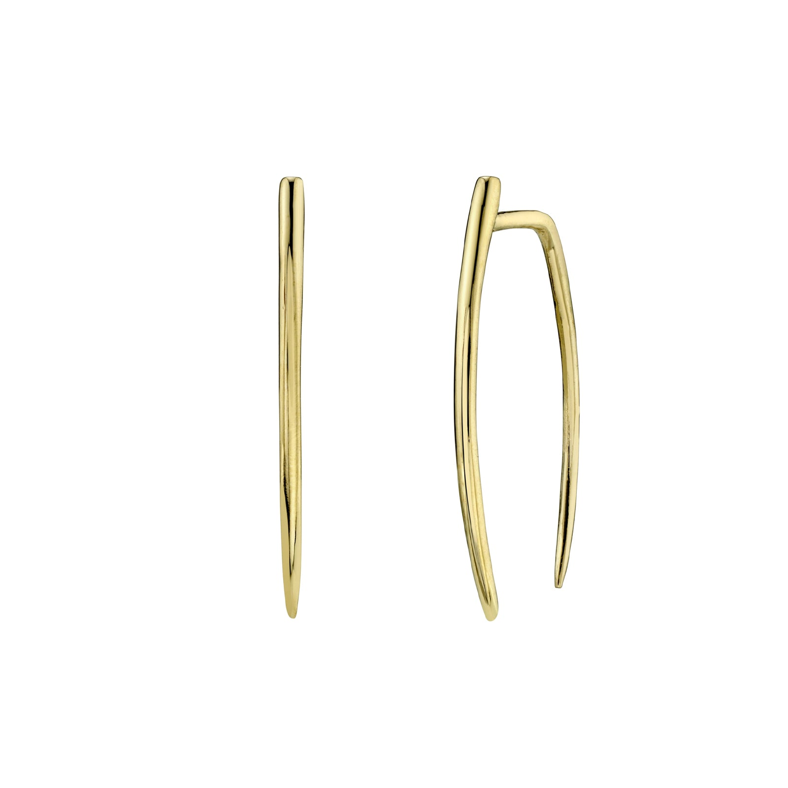 Gabriela Artigas & Company Large Classic Infinite Tusk Earrings - Yellow Gold - Earrings - Broken English Jewelry