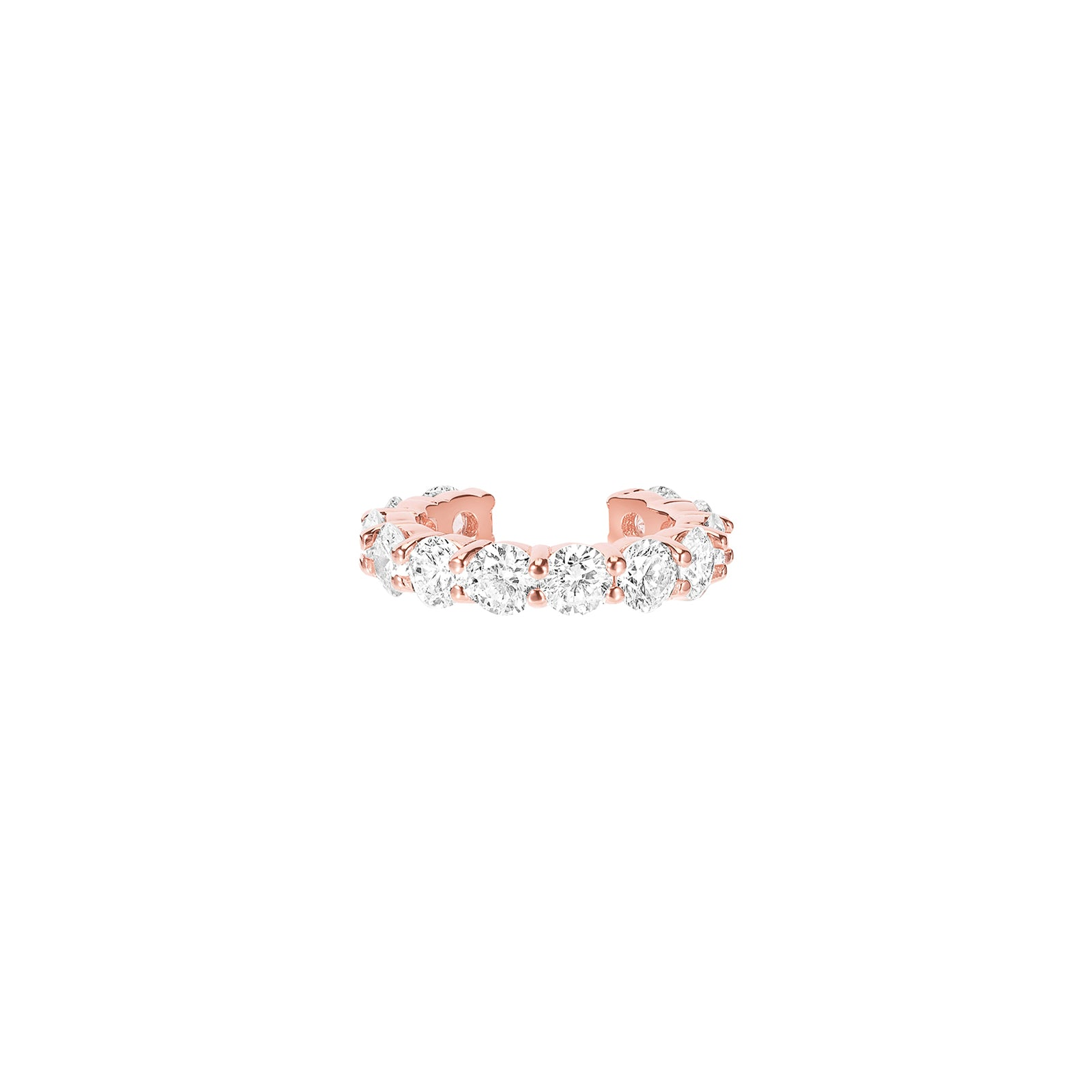 Carbon & Hyde Sparkler Diamond Earcuff - Rose Gold - Earrings - Broken English Jewelry