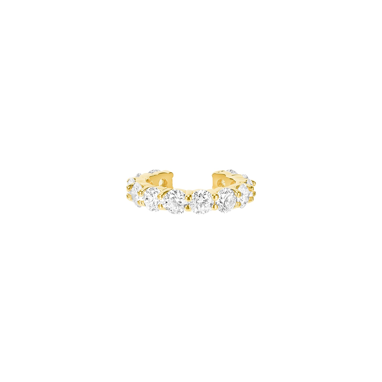 Carbon & Hyde Sparkler Diamond Earcuff - Yellow Gold - Earrings - Broken English Jewelry
