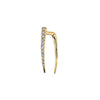Gabriela Artigas & Company Classic Infinite White Diamond Tusk Earring - Yellow Gold - Earrings - Broken English Jewelry
