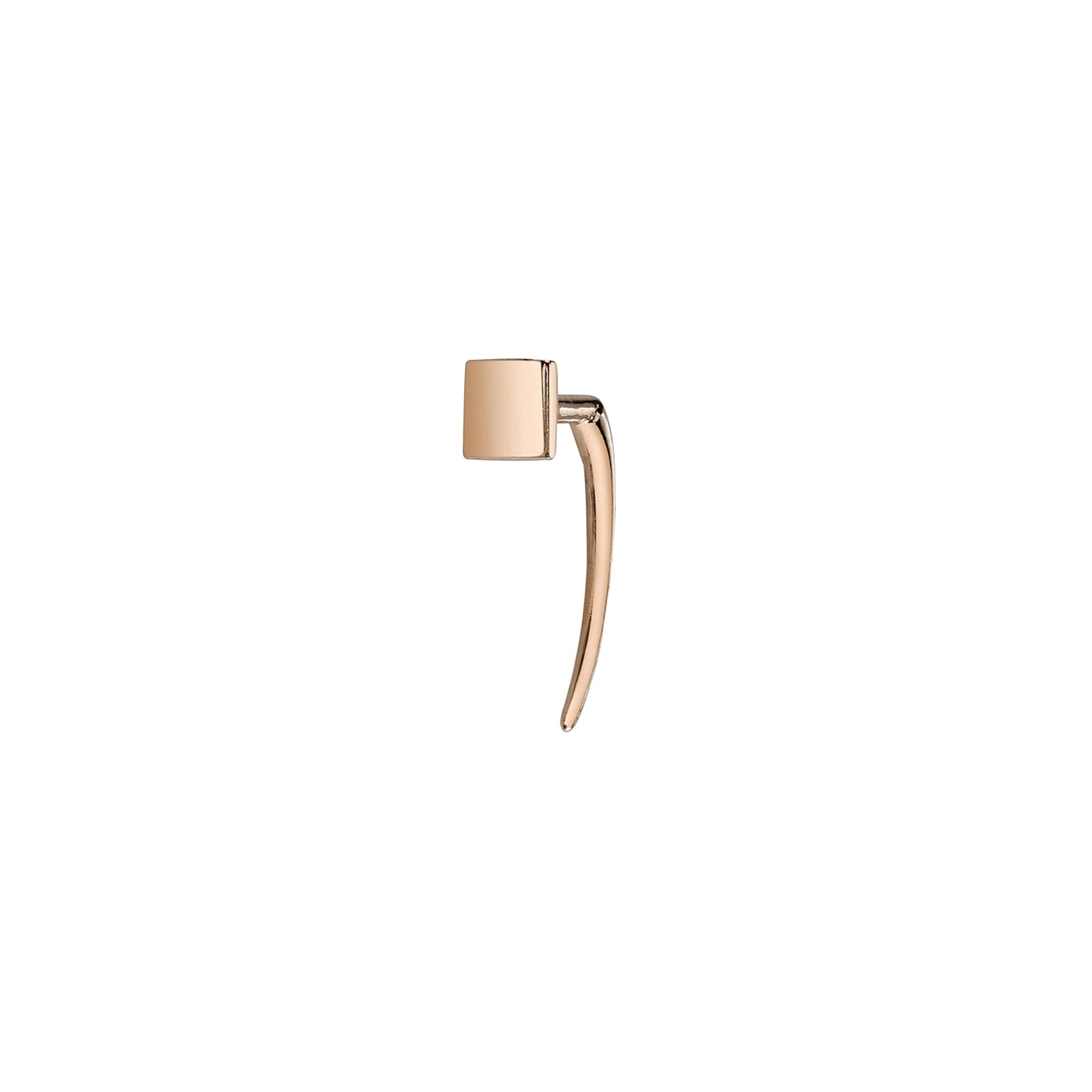 Gabriela Artigas & Company Square Infinite Tusk Earrings - Rose Gold - Earrings - Broken English Jewelry