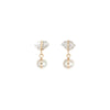 Melissa Joy Manning Single Drop Earrings - Herkimer & Pearl - Earrings - Broken English Jewelry