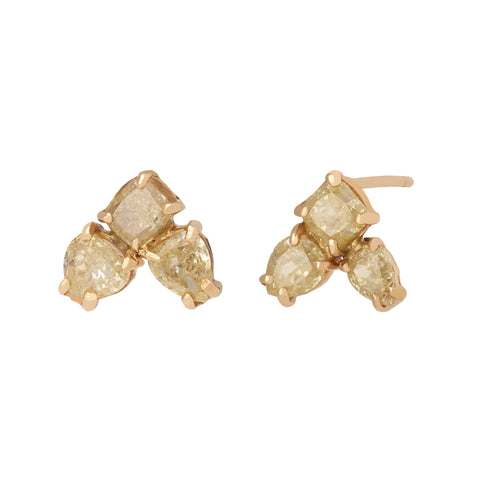 Natural Diamond Stardust Earrings - Xiao Wang - Earrings | Broken English Jewelry