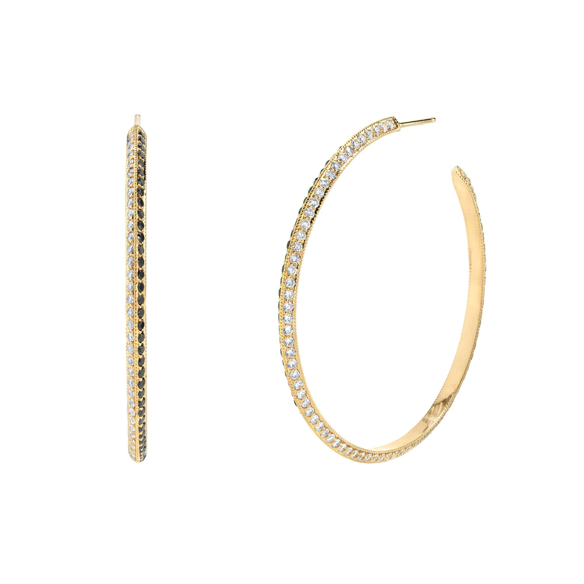 Lizzie Mandler Othello Knife Edge Hoops - Earrings - Broken English Jewelry