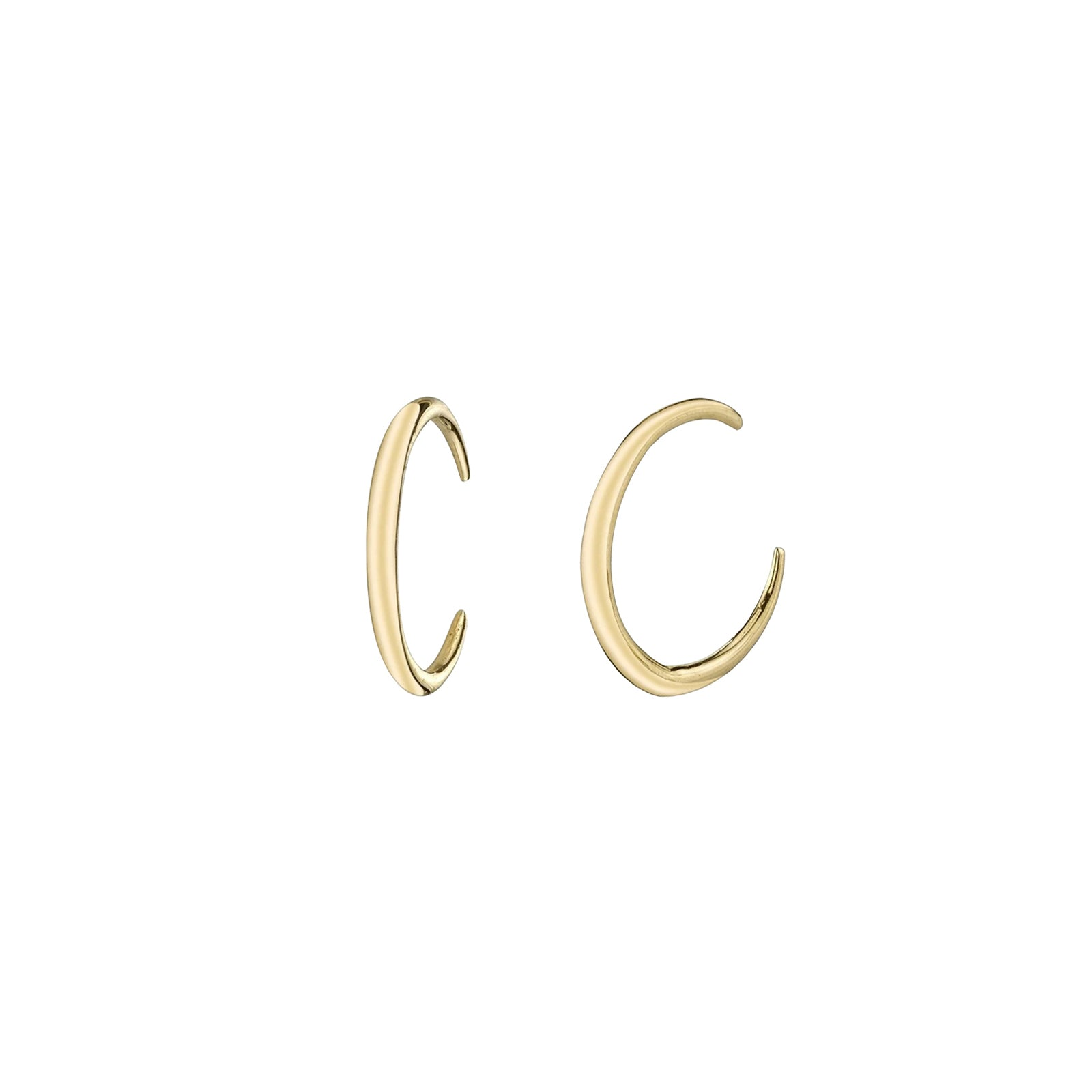 Gabriela Artigas & Company Mini Rising Tusk Earrings - Yellow Gold - Earrings - Broken English Jewelry