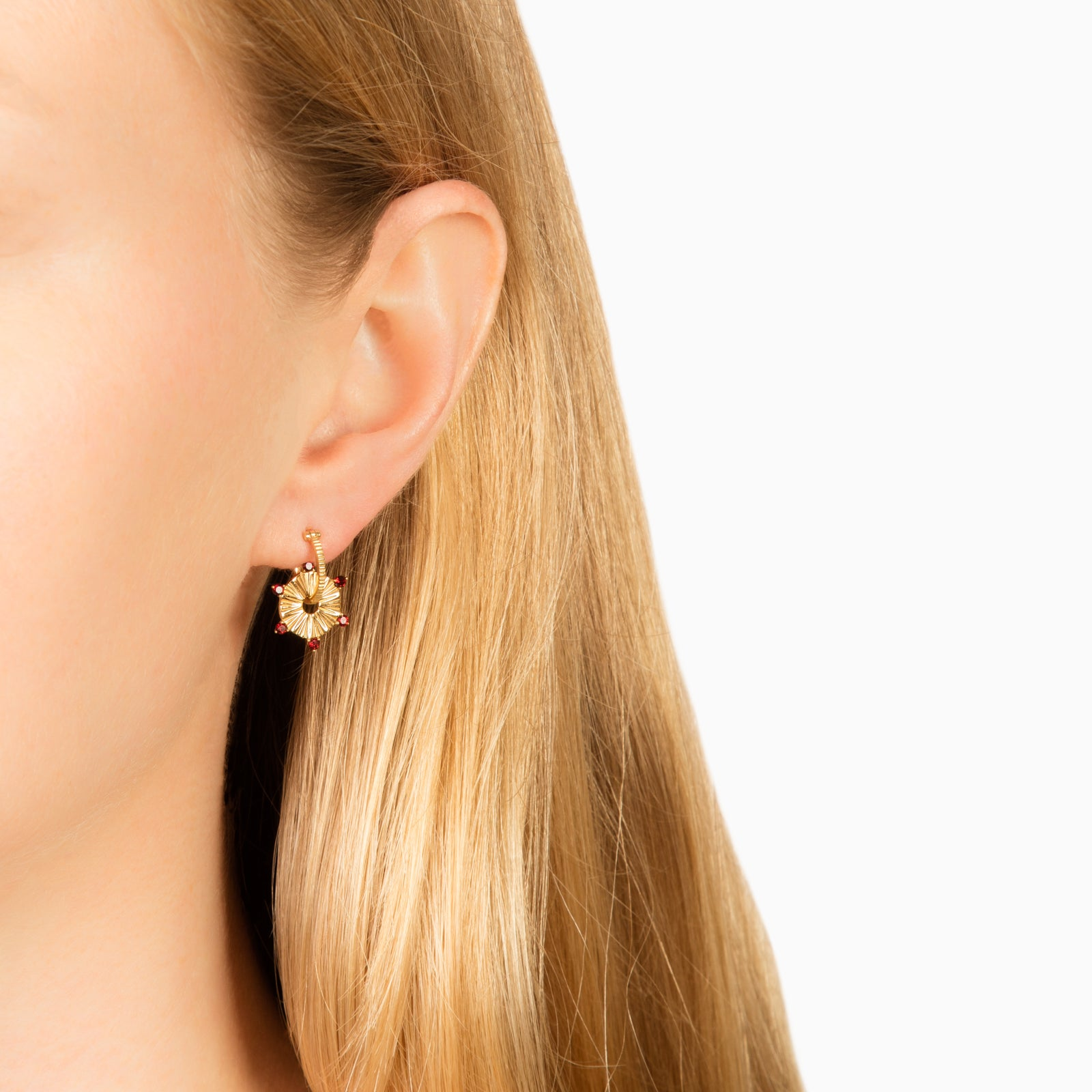 Foundrae Textured Hoop - Petite - Earrings - Broken English Jewelry