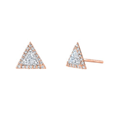 Trillion Halo Studs by Lizzie Mandler for Broken English Jewelry
