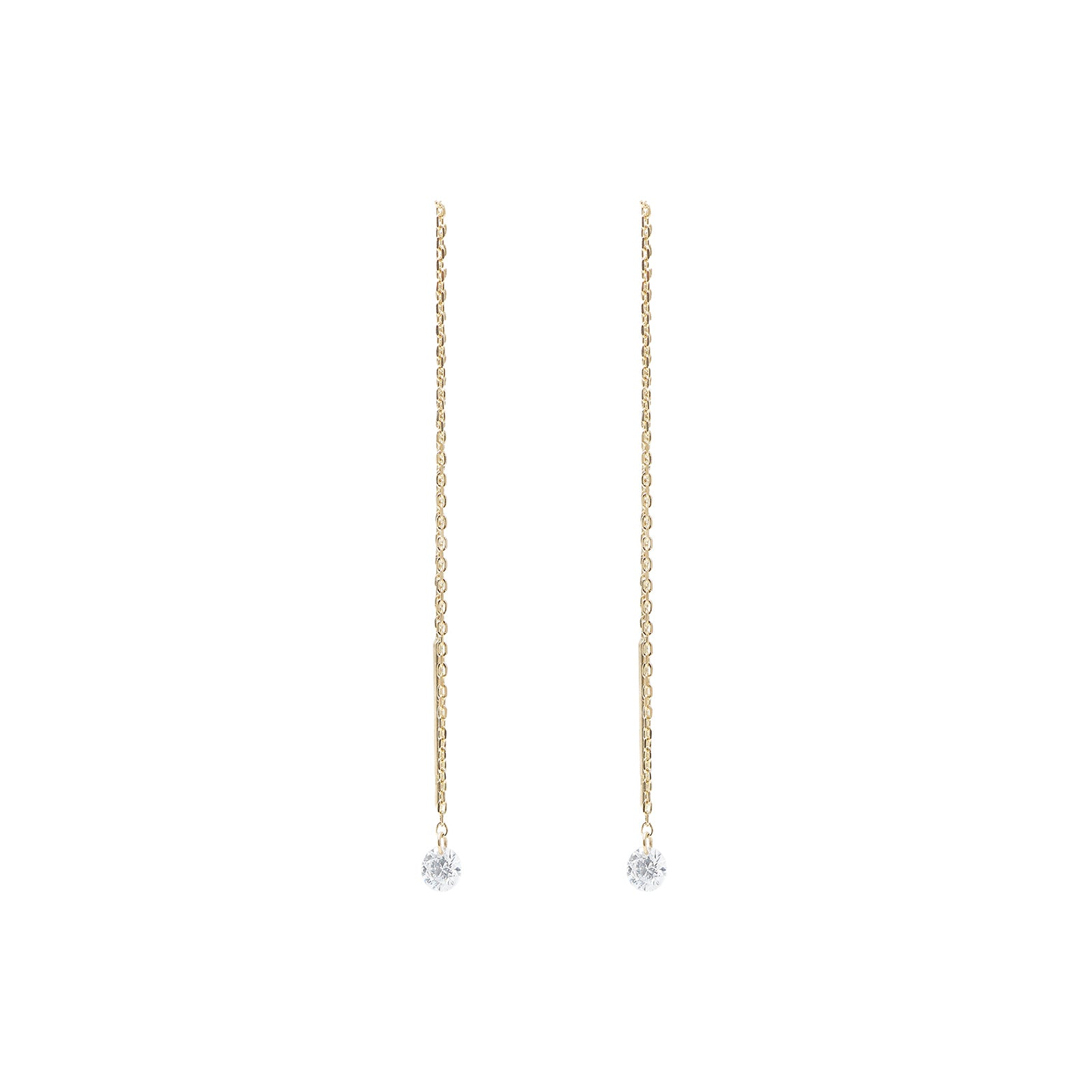 Persée Paris Chain Diamond Drop Earrings - Earrings - Broken English Jewelry