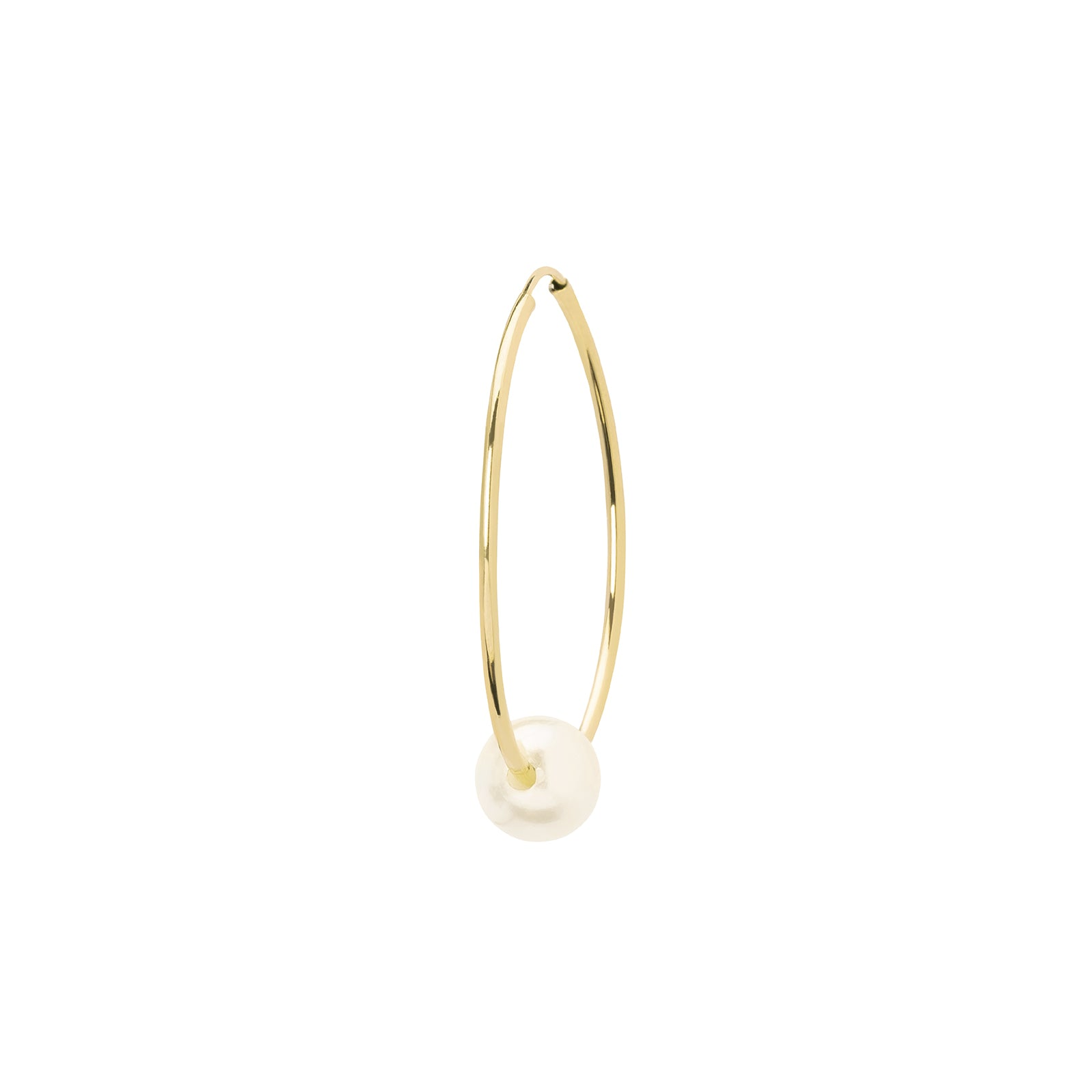 Gabriela Artigas & Company Cosmos Pearl Hoop - Yellow Gold 27mm - Earrings - Broken English Jewelry