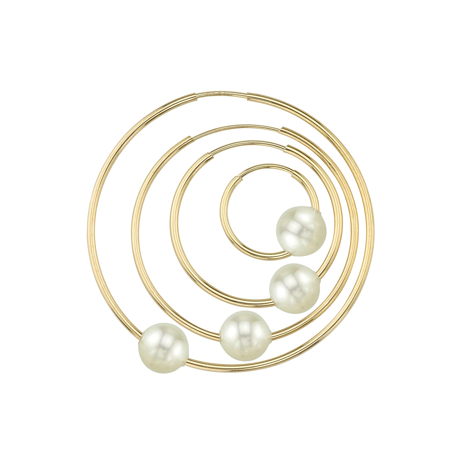 Gabriela Artigas & Company Cosmos Pearl Hoop - Yellow Gold 21mm - Earrings - Broken English Jewelry