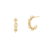 Lizzie Mandler Small Knife Edge Chain Hoops - Diamond & Gold - Earrings - Broken English Jewelry