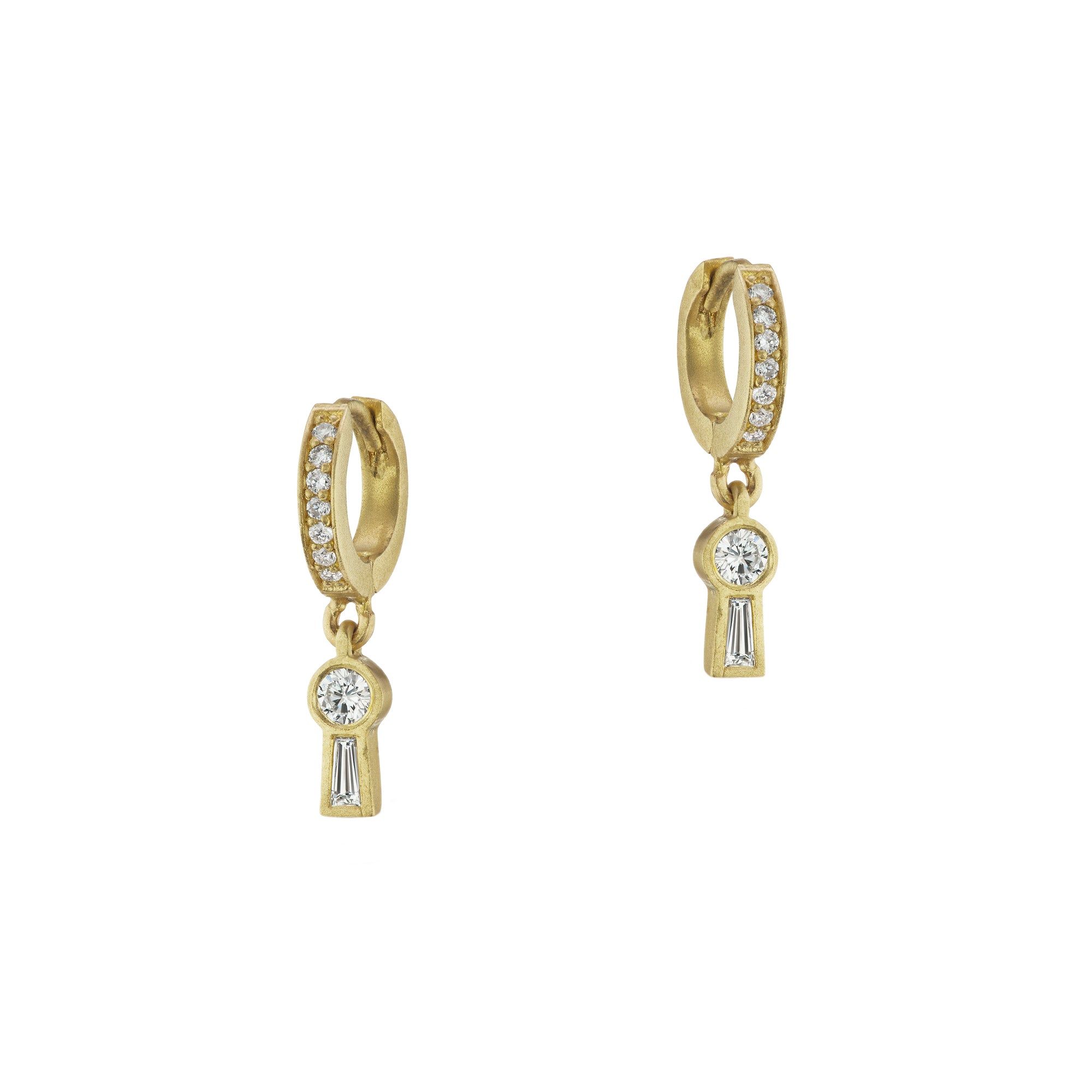 Michelle Fantaci Keyhole Huggies - Earrings - Broken English Jewelry