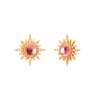 Jenny Dee Rubellite Electra Earrings - Earrings - Broken English Jewelry