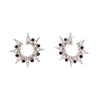 Colette Star Spike Earrings - Onyx - Earrings - Broken English Jewelry