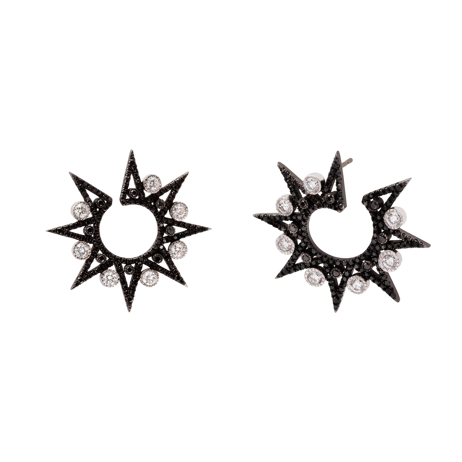 Colette Star Spike Earrings - Diamond - Earrings - Broken English Jewelry