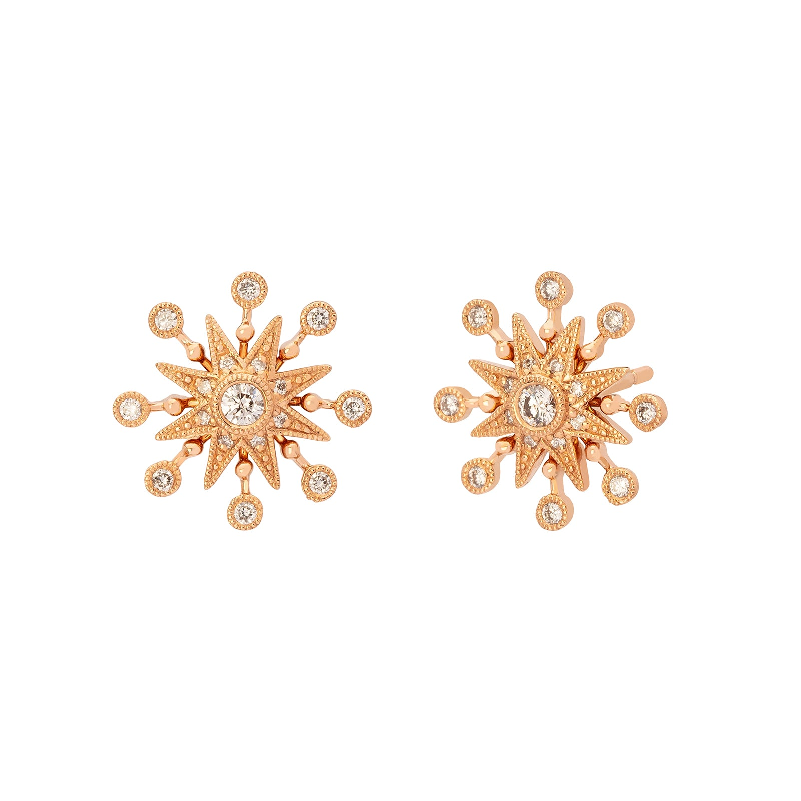 Colette Twinkle Star Studs - White Diamond - Earrings - Broken English Jewelry