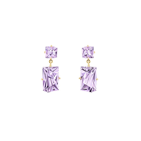 Amethyst KLAR Drop Earrings - MISUI - Earrings | Broken English Jewelry