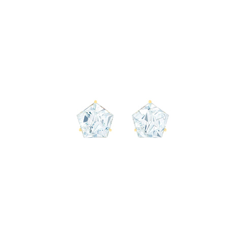Aquamarine KLAR Stud Earrings - MISUI - Earrings | Broken English Jewelry