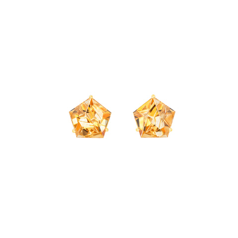 Citrine KLAR Stud Earrings - MISUI - Earrings | Broken English Jewelry