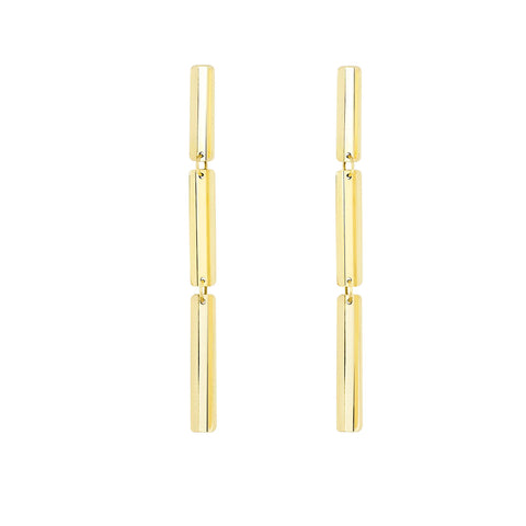 Long Rectangle VIA Earrings - MISUI - Earrings | Broken English Jewelry