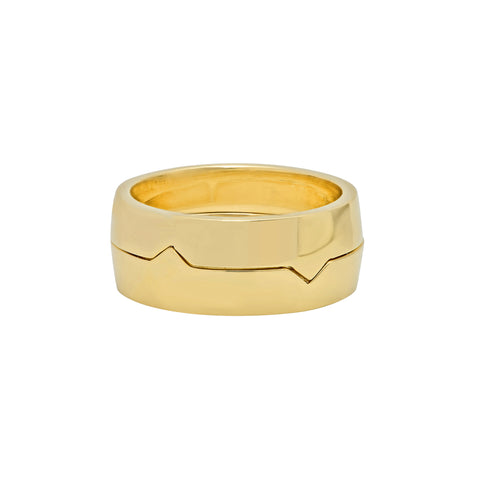 Gold Interlocking Mate Rings by Established for Broken English Jewelry
