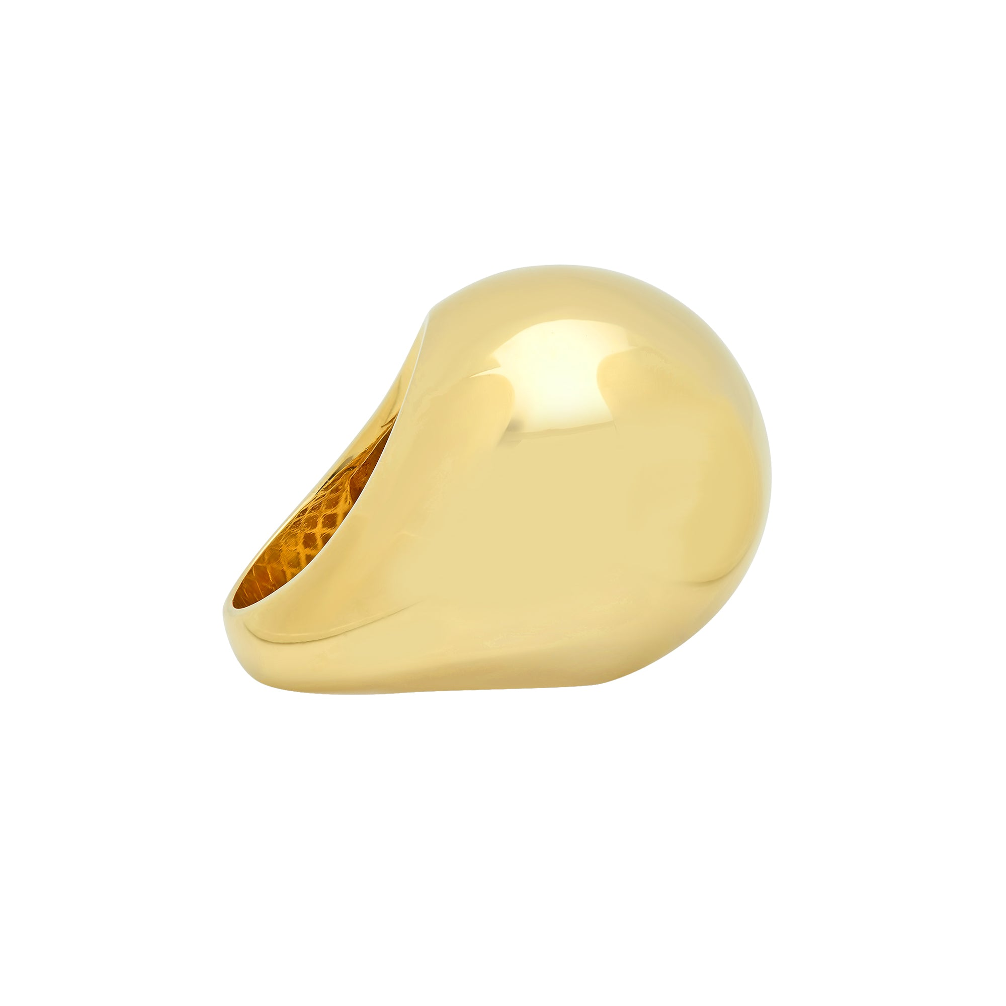 Gold Bauble Ring by Established for Broken English Jewelry