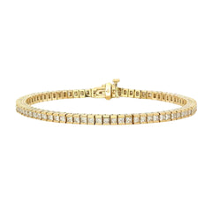 Gold & White Diamond Tennis Bracelet by Established for Broken English Jewelry