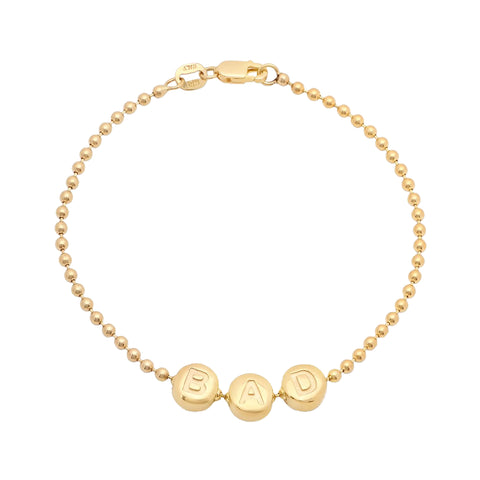 Gold Bad Bead Bracelet by Established for Broken English Jewelry
