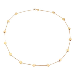 Gold Cannabis Necklace by Established for Broken English Jewelry