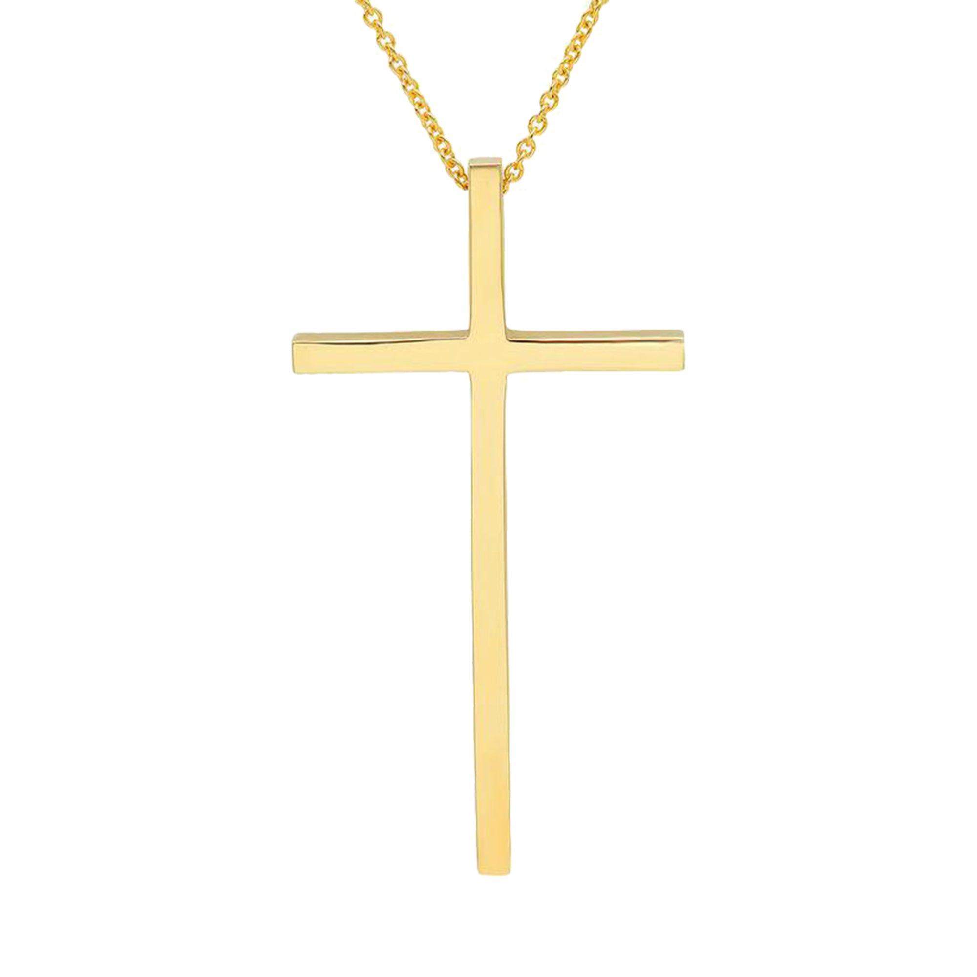 Gold Cross Necklace by Established for Broken English Jewelry