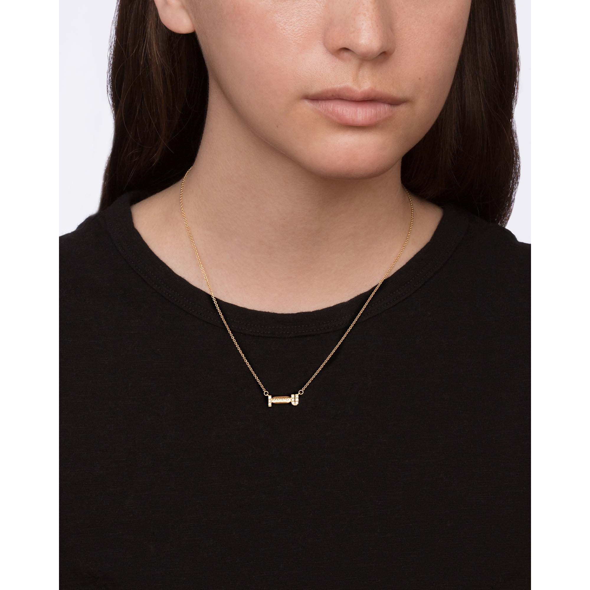 Gold & White Diamond I Ambien You Necklace by Established for Broken English Jewelry