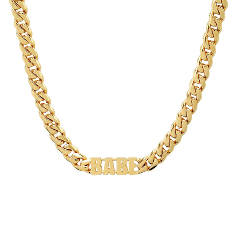 Gold Babe Necklace by Established for Broken English Jewelry