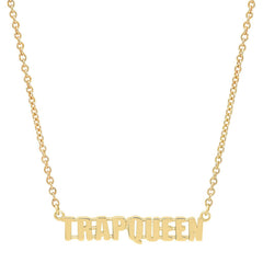 Gold Trap Queen Necklace by Established for Broken English Jewelry