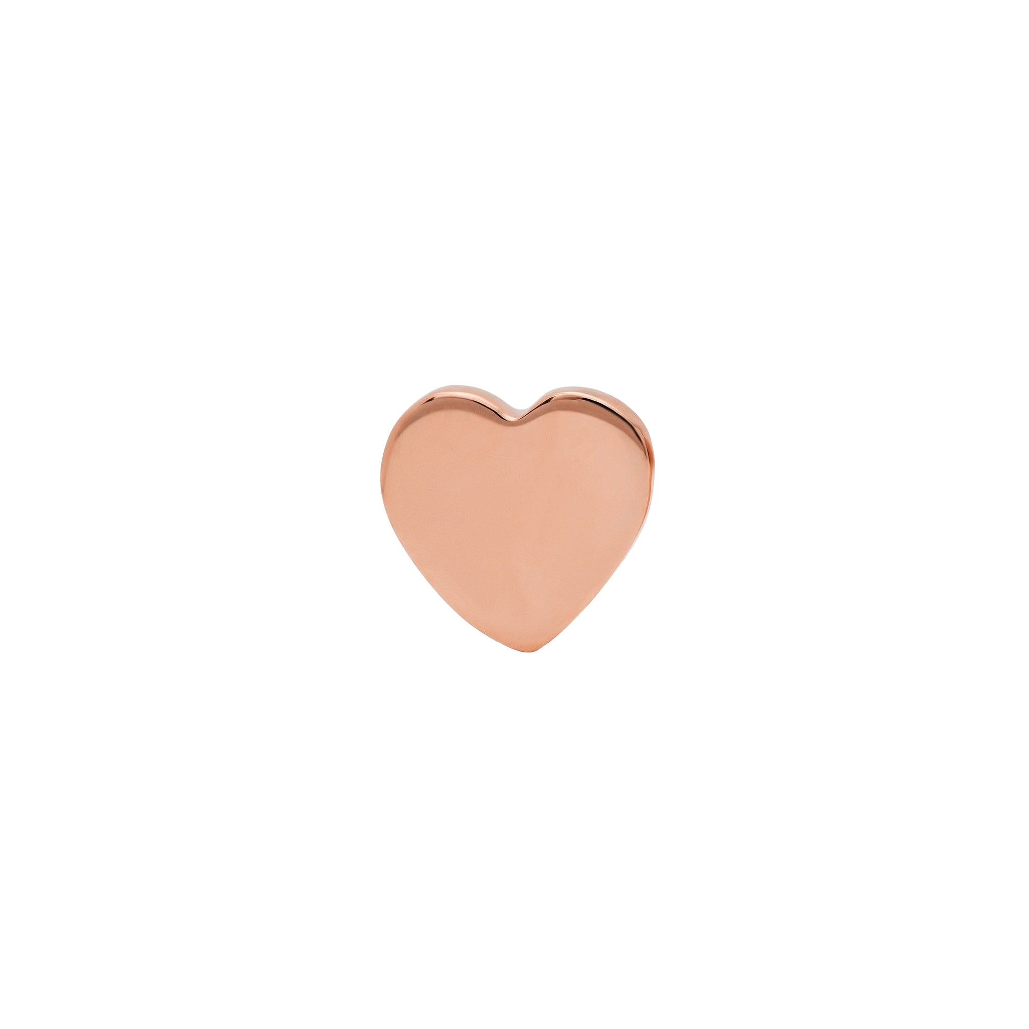 Gold Heart Stud by Established for Broken English Jewelry