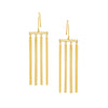 Gold Multi Stick Earring by Established for Broken English Jewelry