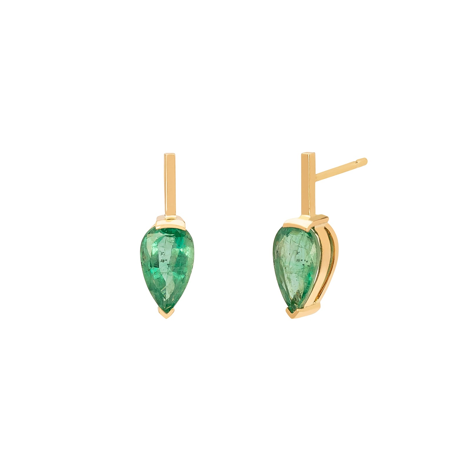 YI Collection Dewdrop Earrings - Emerald - Earrings - Broken English Jewelry